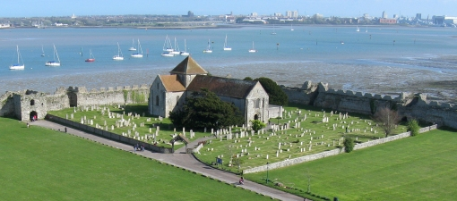 View from the tower, Portchester Castle